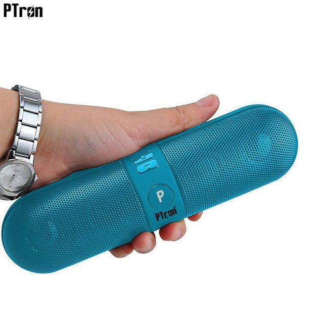 PTron Streak Multifunctional Metal Pill Wireless Bluetooth Speaker For All Samsung Smartphones Blue