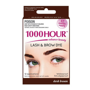 1000 Hour Eyelash & Brow Dye Kit - Dark Brown