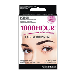 1000 Hour Eyelash & Brow Dye Kit - Black