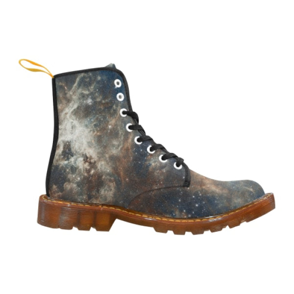 Tarantula Nebula mens lace-up combat boots - Brown / 7 - Mens Boots