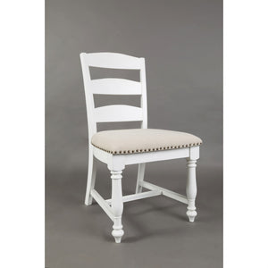 Castle Hill Ladder Back Dining Chair - Antique White Set of 2