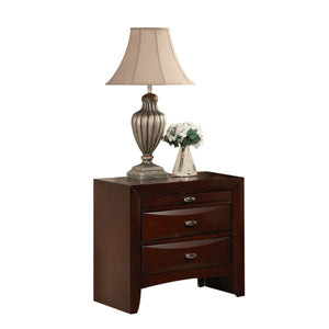 Nightstand,  - Rubber Wood, Tropical Woo Espresso
