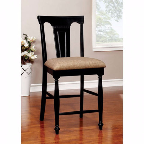 Cottage Counter Height Chair, Tan & Black, Set Of 2