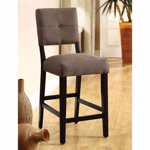 Contemporary Counter Height Chair, Espresso, Set Of 2