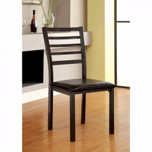 Transitional Side Chair (Full Assembly), Black Finish, Set Of 4