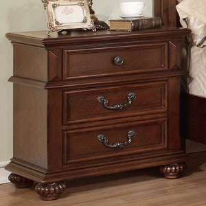 Traditional Night Stand In Oak Finish