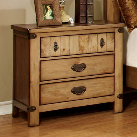 Pioneer Cottage Night Stand In Weathered Elm Finish