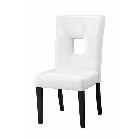 Modern Dining Side Chair with Upholstered Seat and Back, White, Set of 2