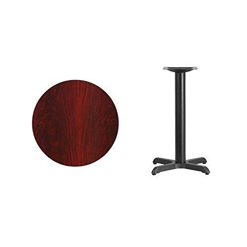 24\'\' Round Mahogany Laminate Table Top With 22\'\' X 22\'\' Table Height Base