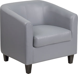 Gray Leather Lounge Chair - BT-873-GY-GG