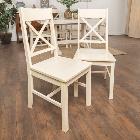 Millwright Dining Chair, Set of 2 - Antique White