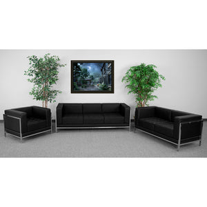 HERCULES Imagination Series Black Leather 3 Piece Sofa Set - ZB-IMAG-SET1-GG
