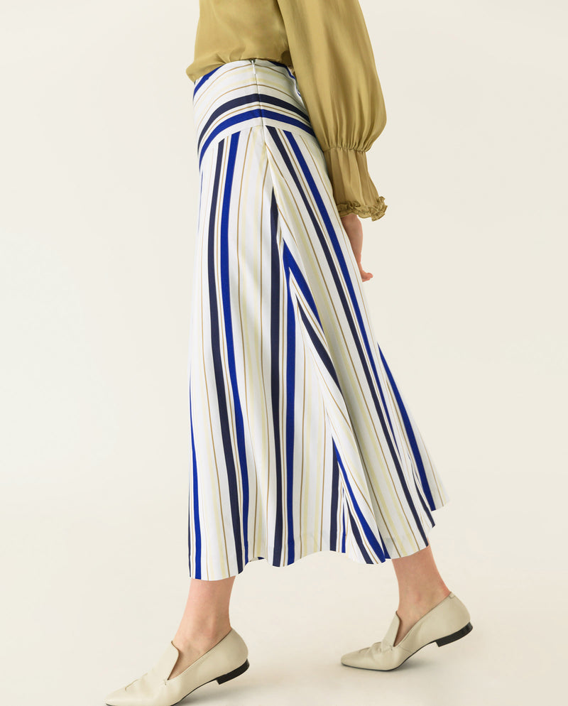 Striped Midi Skirt Multicoloured Stripes