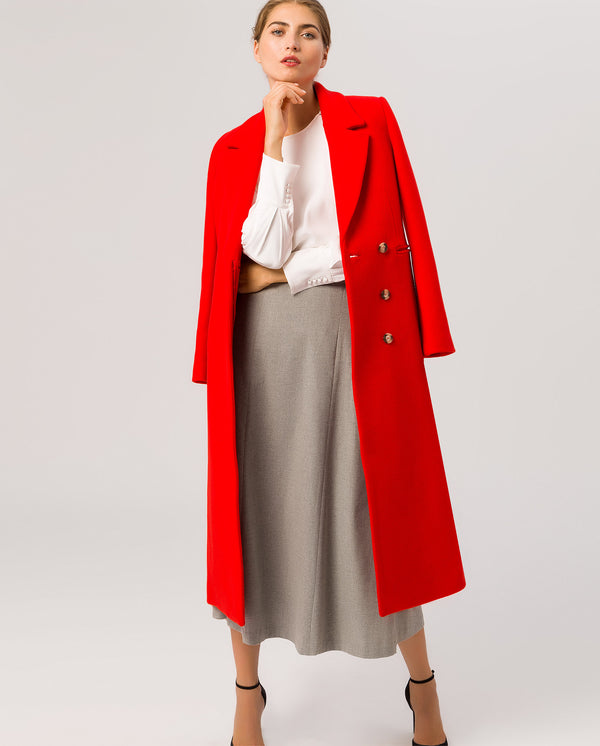 Maxi Coat Fire Red
