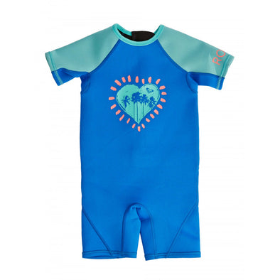 ROXY TODDLER SYNCRO 1.5MM SHORT SLEEVED SPRINGSUIT WETSUIT