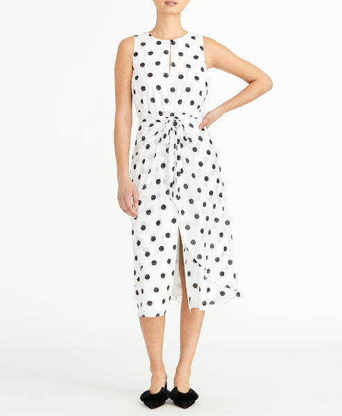 POLKA DOT TWIST MAXI