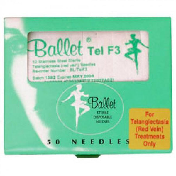 Just Care Beauty Products Ballet Tel Red Vein Needles 50 Pack