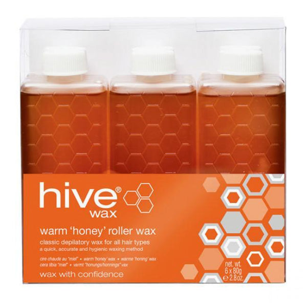 Just Care Beauty Products Hive Warm Wax Roller Depilatory Refill 6 Pack