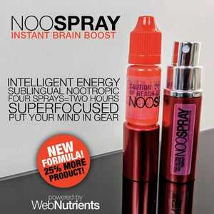 NooSpray -  Fast-Acting Sublingual Spray For Mood, Energy and Focus (30 day supply)