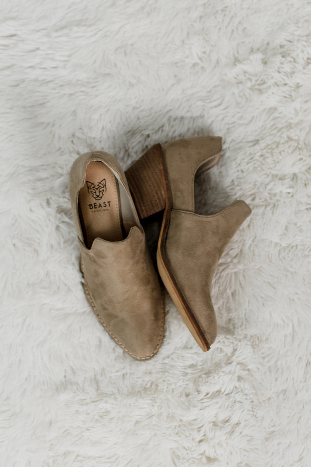 Sunny Taupe Bootie