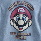 Super Mario Original Hero Grey boys tshirt