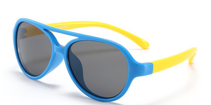 Baby Sunglasses Flexible Aviators Blue & Yellow
