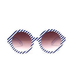 Kids Sunglasses Retro Round Stripe