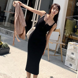 DR20153 Sleeveless Pencil Slip Dress