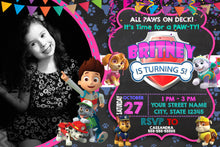 Load image into Gallery viewer, PAW Patrol Birthday Invitation
