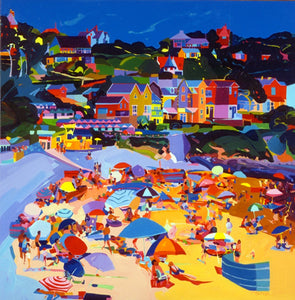 Yellow Sands Langland ltd ed print sold on behalf of Michelle Scragg