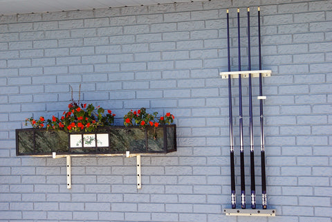 Outdoor 8 Bal Wall Mount Cue Rack