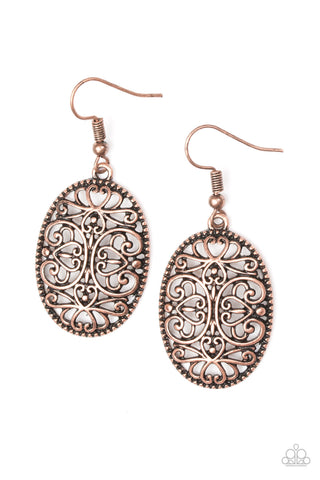 Papparazzi -Wistfully Whimsical - Copper earrings