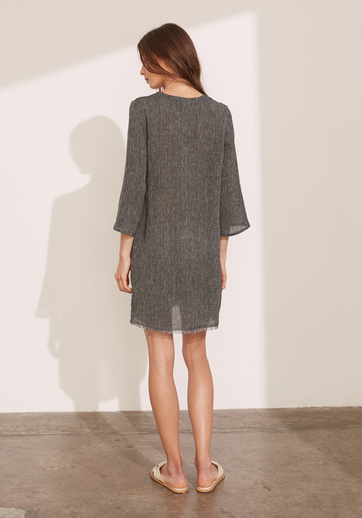 Etched Linen Tunic Dress