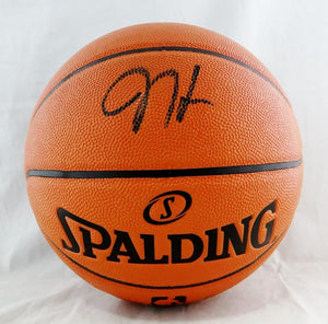 James Harden Autographed NBA Spalding Basketball - Beckett Auth *Black