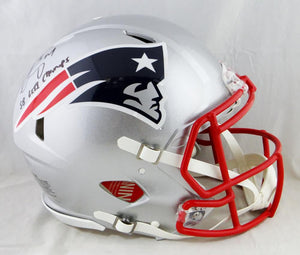Sony Michel Signed Patriots F/S Speed Authentic Helmet W/ SB Champs- Beckett Auth
