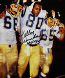 Kellen Winslow Autographed San Diego Chargers 8x10 PF Photo Helped off Field w/ HOF- JSA W Auth *Black