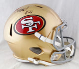 Matt Breida Autographed San Francisco 49ers Full Size Speed Helmet- Beckett Auth *Black