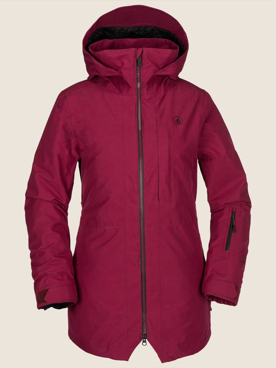 Iris 3-In-1 Gore-tex Jacket In Magenta, Front View