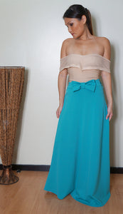 Lawan Ribbon Waist Maxi Skirt