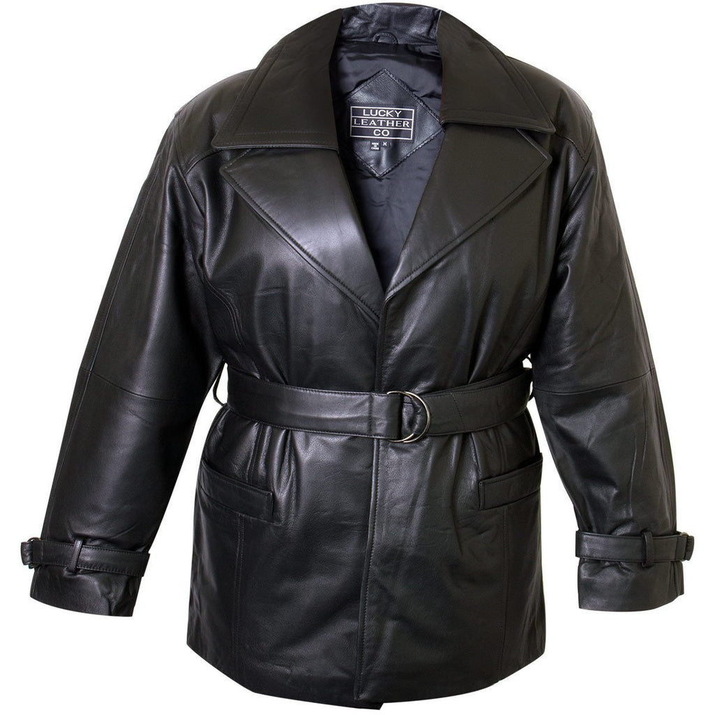 Ladies Lucky Leather 116 Cowhide Leather Coat with Double Lapel Collar