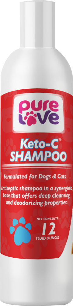 Pure Love Ketoconazole 1%, Chlorhexidine 2% Shampoo for Dogs and Cats