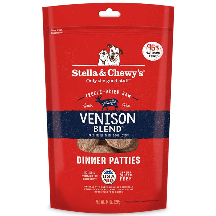 Stella & Chewy's Venison Blend Grain Free Dinner Patties Freeze Dried Raw Dog Food