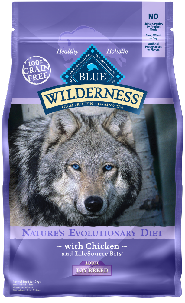 Blue Buffalo Wilderness Toy Breed Adult Chicken Recipe Dry Dog Food