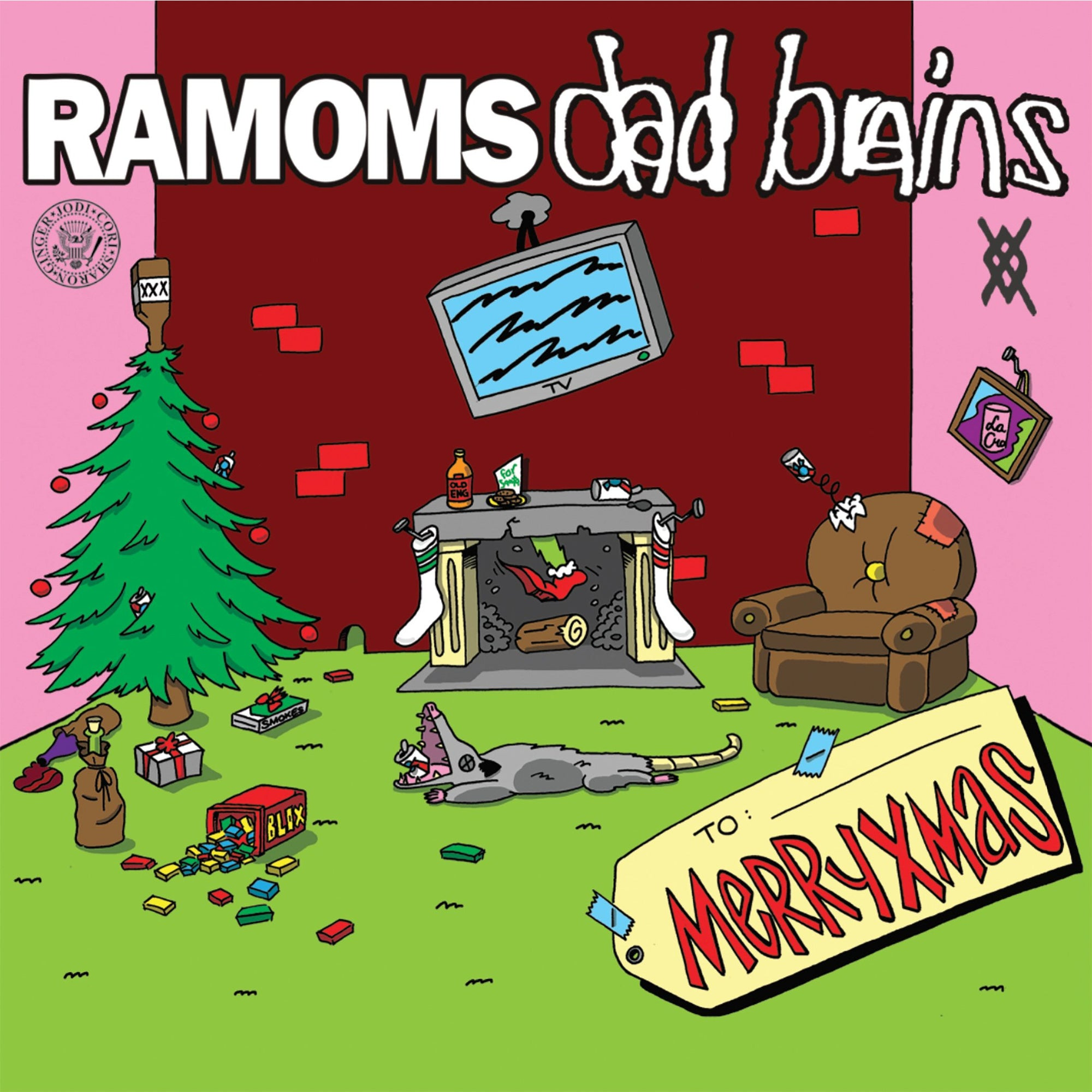 Dad Brains / Ramoms - MERRYXMAS Split 7""