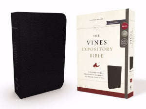 NKJV The Vines Expository Bible-Black Bonded Leather