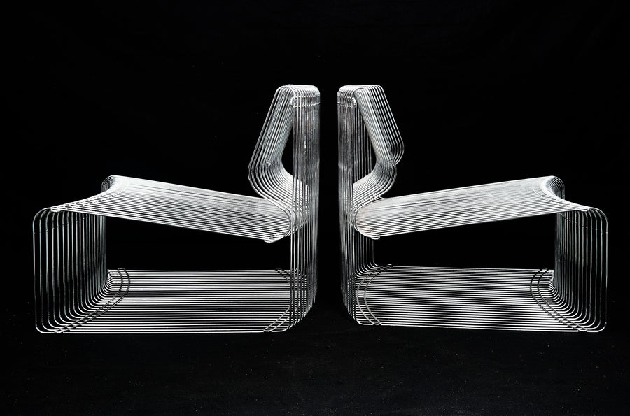 Verner Panton for Fritz Hansen Pair of Pantonova Chairs, circa 1971