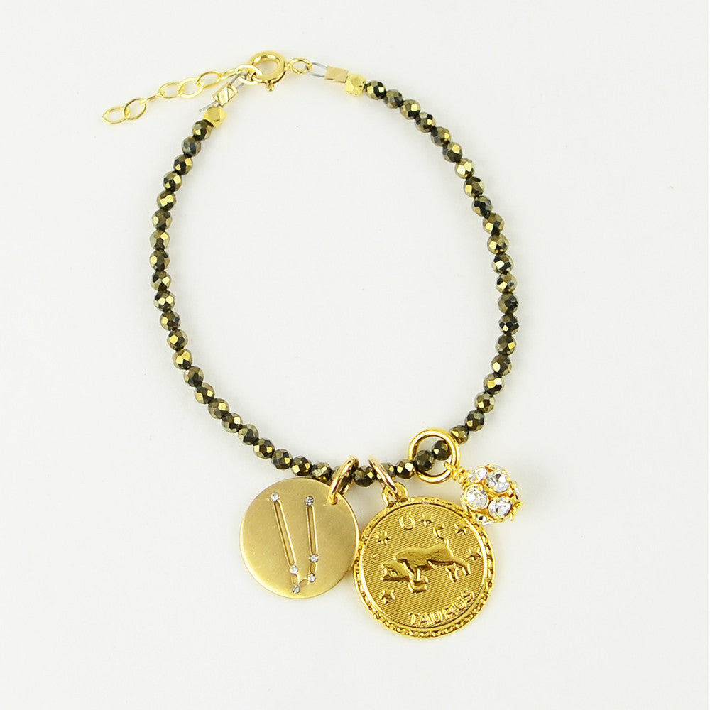 I found this at #moonandlola! - Rhea Bracelet Pyrite with Charms