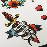 Saves the Day tattoo flash