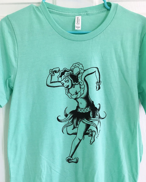 sailor jerry hula girl tattoo flash shirt