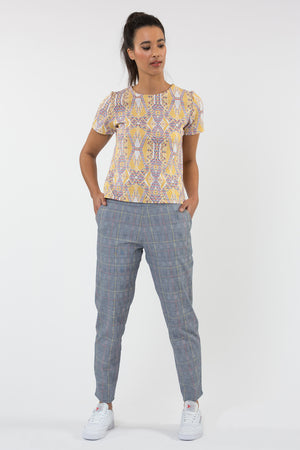 Top coupe t-shirt avec pantalon fabriqué en France Carrousel